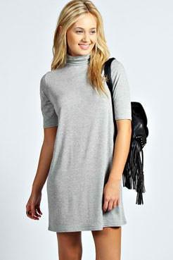 Slika Siva haljina sa rolkom