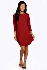 Crvena pamucna haljina