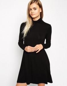 Haljina sa polurolkom i zvono suknjom