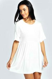 Pamucna bela zvono haljina