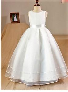 Svecana haljina za devojcice od americkog satena i trakama na tilu
