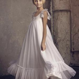 Leprsava muslin haljina sa dugmicima