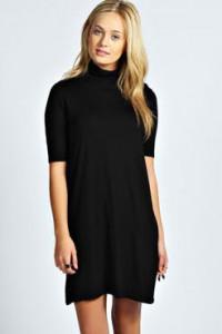 Crna haljina sa rolkom