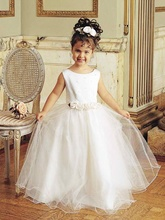 Long special occasion dress with flower