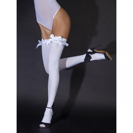 Slika Čarape sa mašnicom | White satin bows