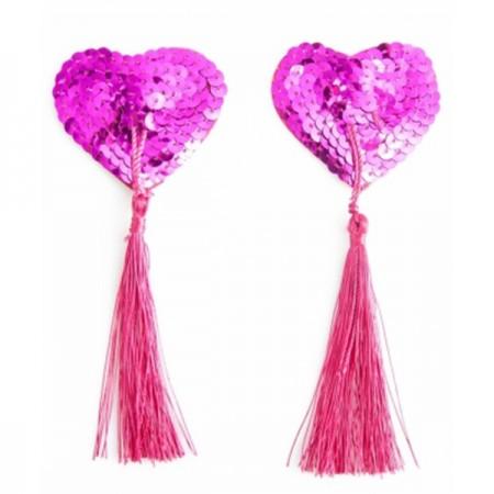 Slika Ukrasi za bradavice | roze srce