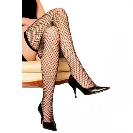 Slika Crne mrežaste čarape