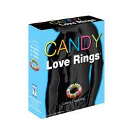 Jestivi prsten za penis | Candy Love 3 Rings