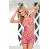 Sexy mrežasta haljina | roze