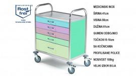 WL11 Medicinski Inox Kolica za terapiju