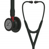 Littmann Cardiology IV Diagnostic Stethoscope: Black & Black Red Stem 6200