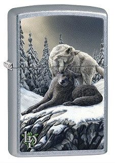 Зажигалка Zippo 80328 Lisa Parker Wolves in the Snow