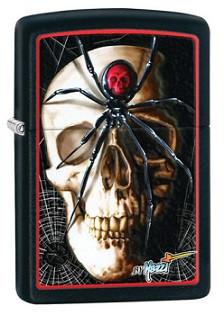 Зажигалка Zippo 28627 Mazzi Skull and Spider