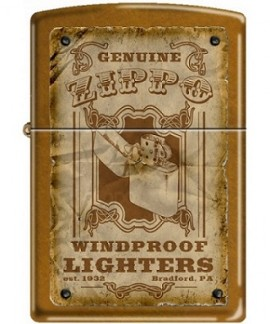 Зажигалка Zippo 3385 Windproofs Toffee Finish