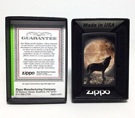 Зажигалка Zippo 3731 Wolf Howling at Moon