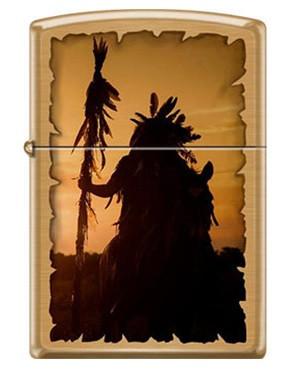 Зажигалка Zippo Silhouette Indian