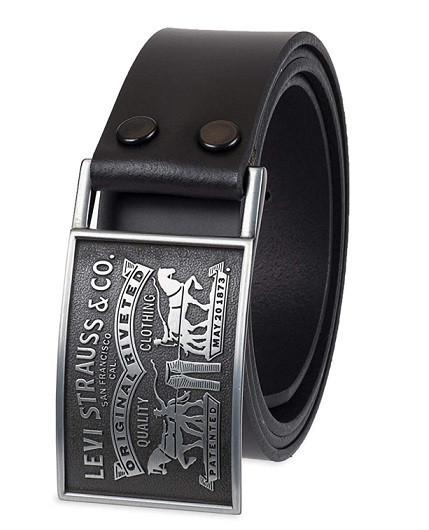 "Ремень мужской Levis Original Leather Belts ""Two Horse""(Black)"