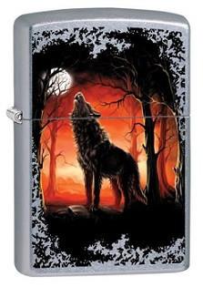 Зажигалка Zippo 80568 Wolf Moon Trees