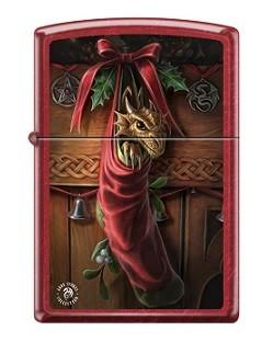 Зажигалка Zippo 2424 Anne Stokes Dragon in Stocking