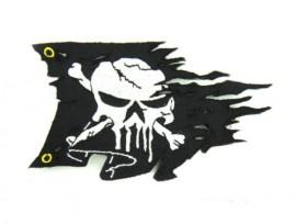 Нашивка (патч светящийся) Ripped Pirate Flag USA