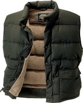 Пуховик жилет Cabelas Fleece-Lined Down