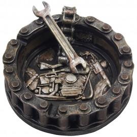 Motorhead Пепельница мотоцикл цепи и гаечный ключ