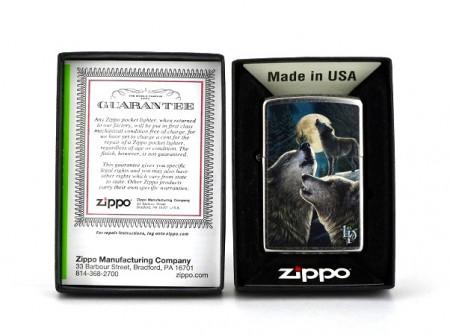 Зажигалка Zippo 9288 Lisa Parker Wolves and Moon
