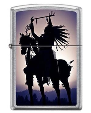 Зажигалка Zippo Silhouette Indian on a horse