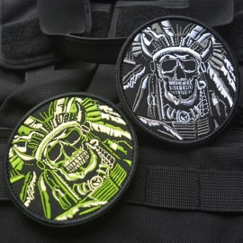 Нашивка (патч)  Skull War Chief Indian Patch