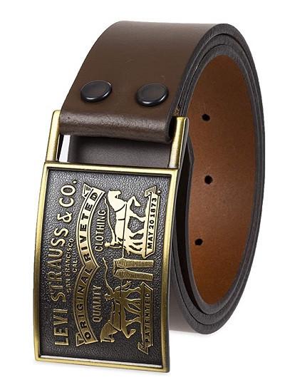 "Ремень мужской Levis Original Leather Belts ""Two Horse""(Brown)"