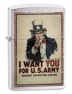 Зажигалка Zippo 29595 Uncle Sam US Army