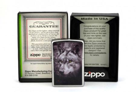 Зажигалка Zippo 5179 Black and White Wolf