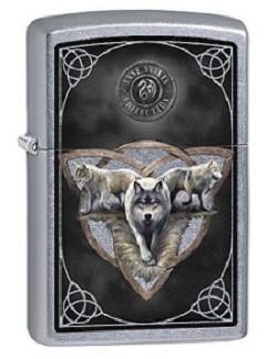 Зажигалка Zippo 79263 Anne Stokes Three Wolves