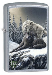 Зажигалка Zippo 80328 Lisa Parker Wolves in the Snow