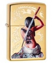 Зажигалка Zippo 29668 Mazzi Dragon Lady With Sword