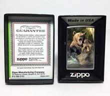 Зажигалка Zippo 205 Bears Fighting