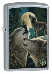 Зажигалка Zippo 9288 Lisa Parker Wolves and Moon