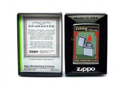 Зажигалка Zippo Green Poster Old Ad