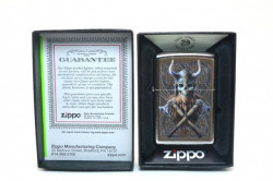 Зажигалка Zippo 80886 Anne Stokes Viking Warrior Skull