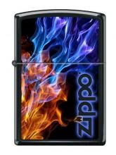 Зажигалка Zippo 4809 Blue Red Fire