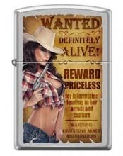 Зажигалка Zippo 206 Wanted Country Girl #2