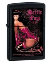 Зажигалка Zippo 218 Bettie Page Vinyl Lace