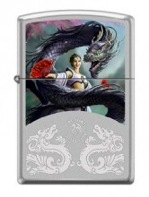 Зажигалка Zippo 2919 Anne Stokes Woman and Dragon
