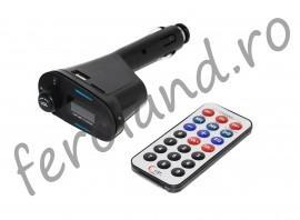 Modulator FM cu display si telecomanda