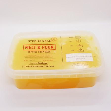 Baza de sapun cu ulei de morcovi, castraveti si aloe vera Melt&Pour 1000g