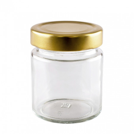 Borcan de sticla Zoia cu capac, 200 ml