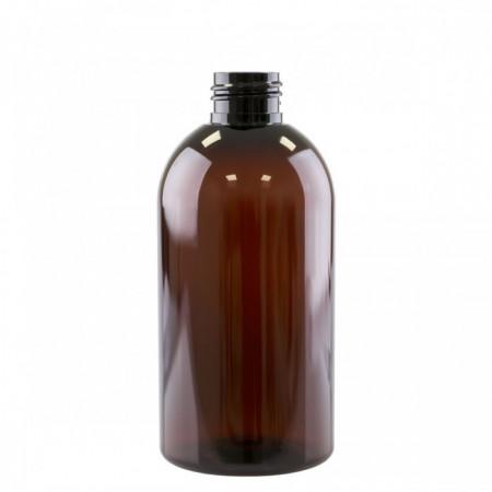 Flacon ambra pet Boston 24/410 cu Capac Disc-top negru, 250 ml