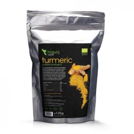 Turmeric (Curcumin) Pulbere Ecologica/Bio 125g