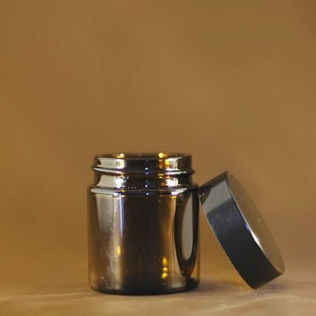 Borcan de sticla AMBRA cu capac 30 ml