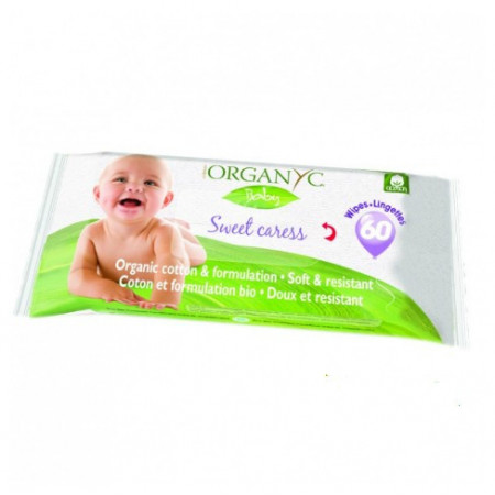 Bio Servetele umede Organyc Baby 60 buc